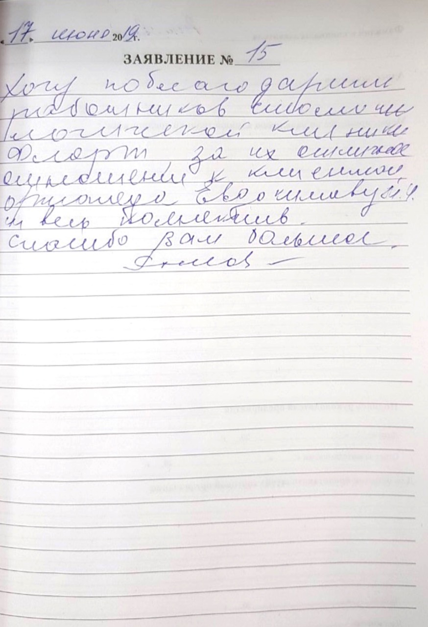 <em>Редактировать Отзыв</em> Людмила. Стоматология Фларт