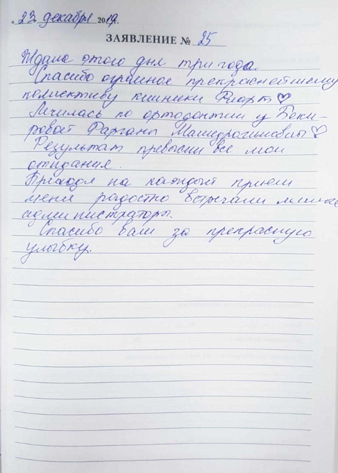 <em>Редактировать Отзыв</em> Юлия Сергеевна. Стоматология Фларт