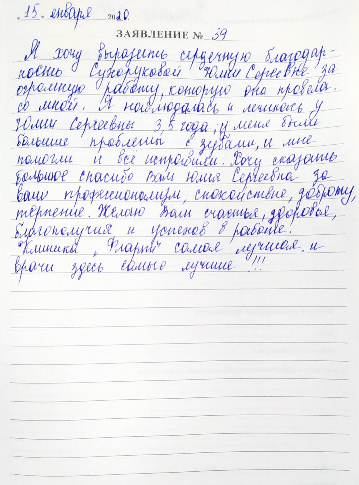 <em>Редактировать Отзыв</em> Елена Ивановна. Стоматология Фларт