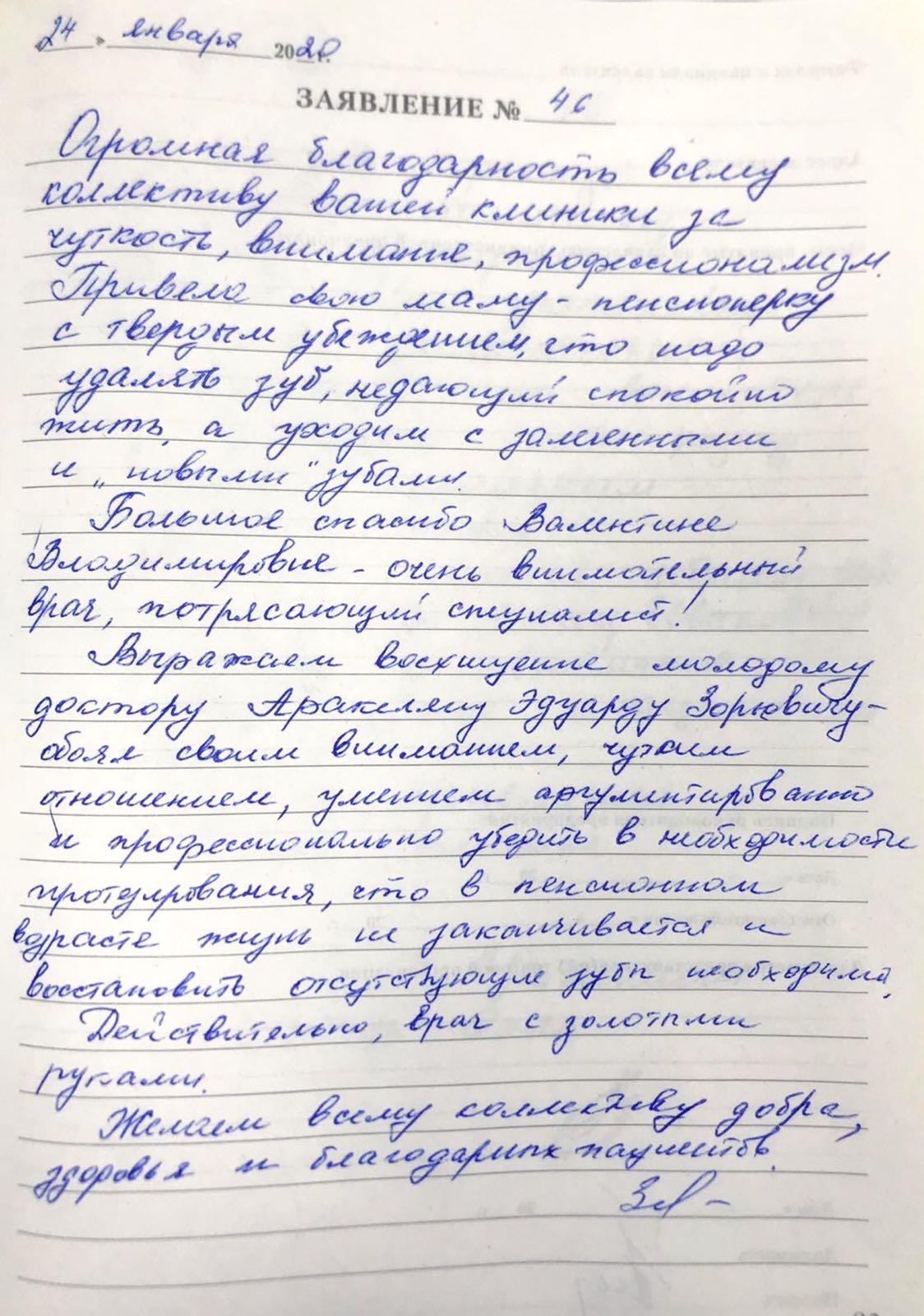<em>Редактировать Отзыв</em> Лидия Юрьевна. Стоматология Фларт