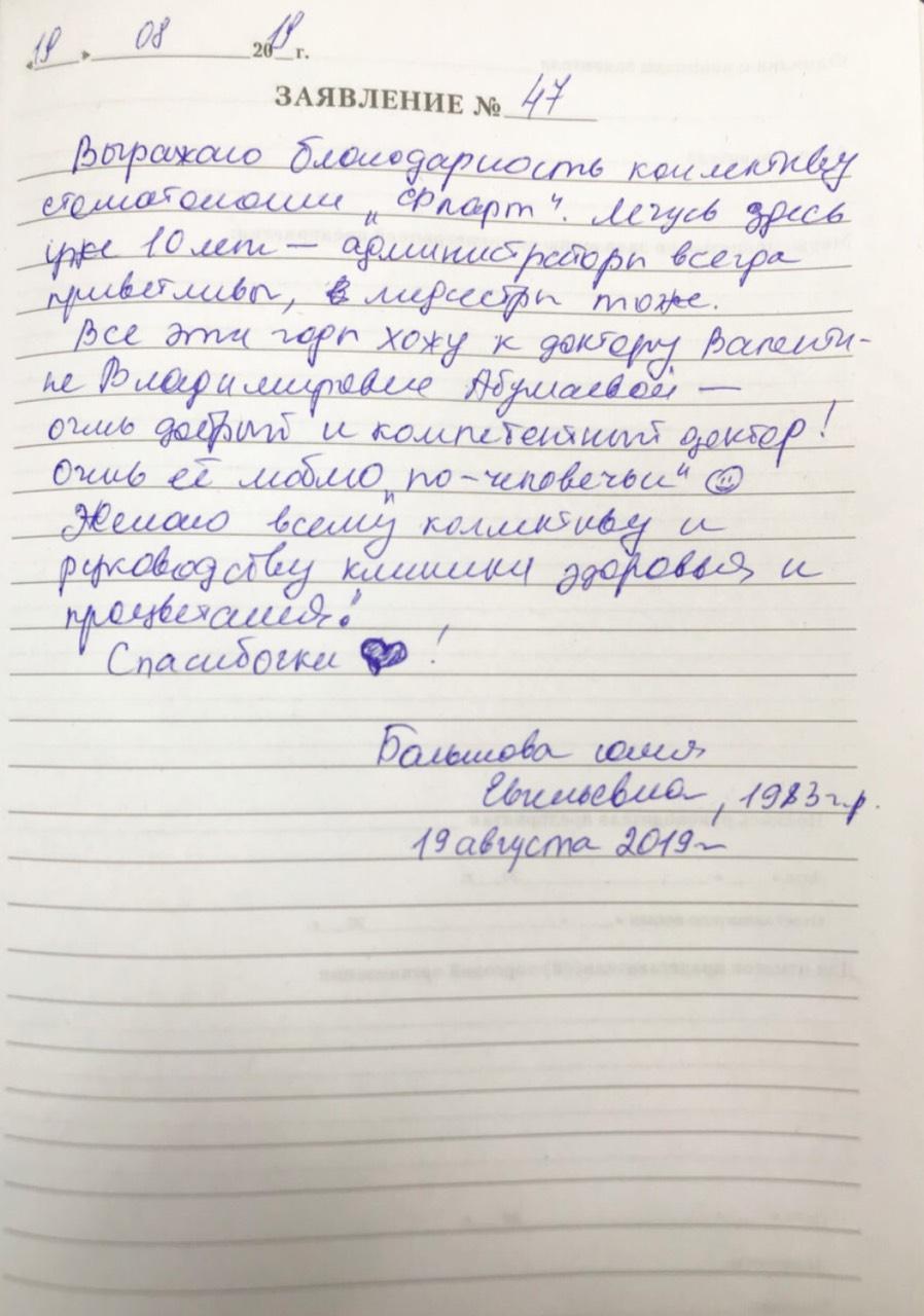 <em>Редактировать Отзыв</em> Юлия. Стоматология Фларт