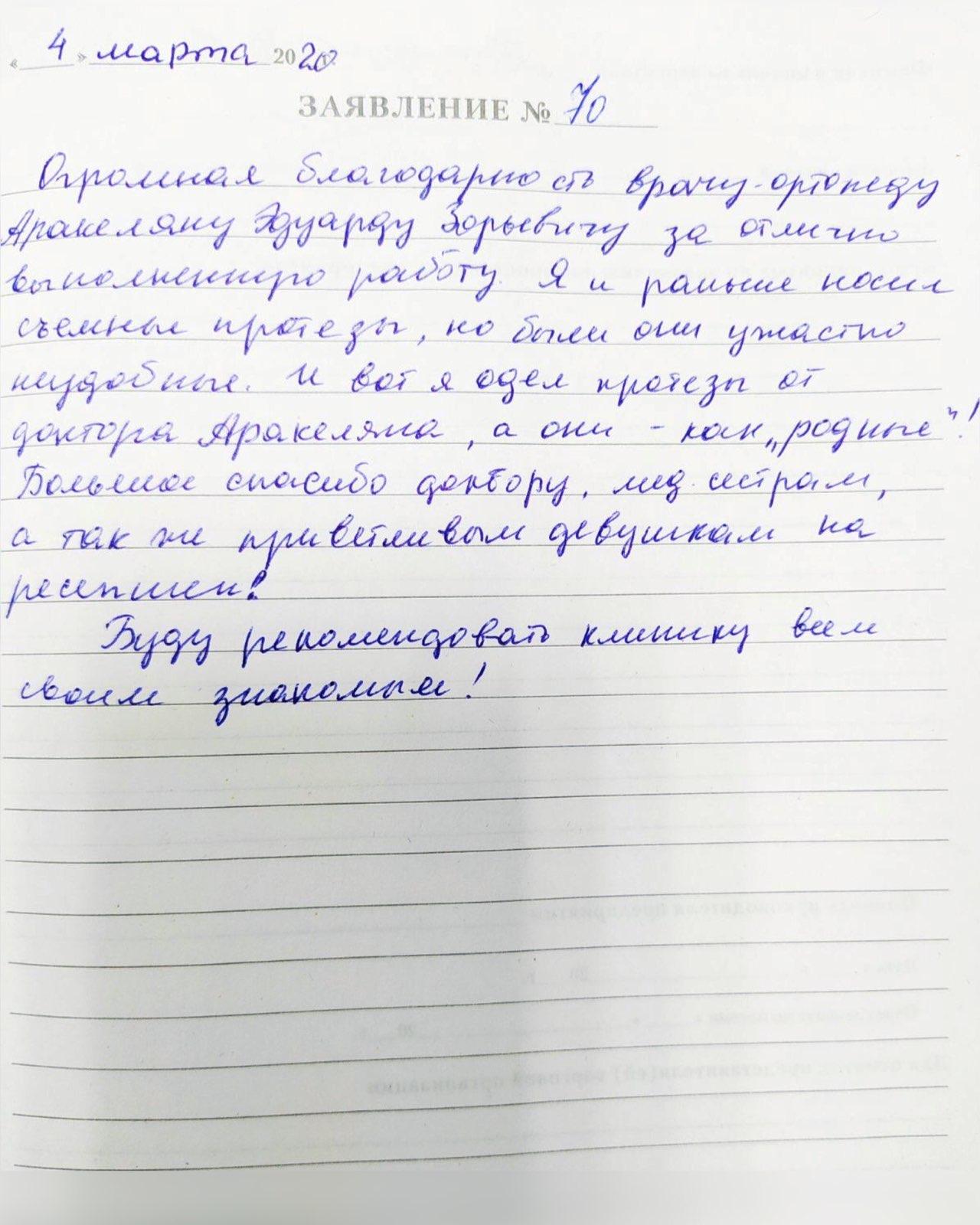 <em>Редактировать Отзыв</em> Дмитрий Валерьевич. Стоматология Фларт