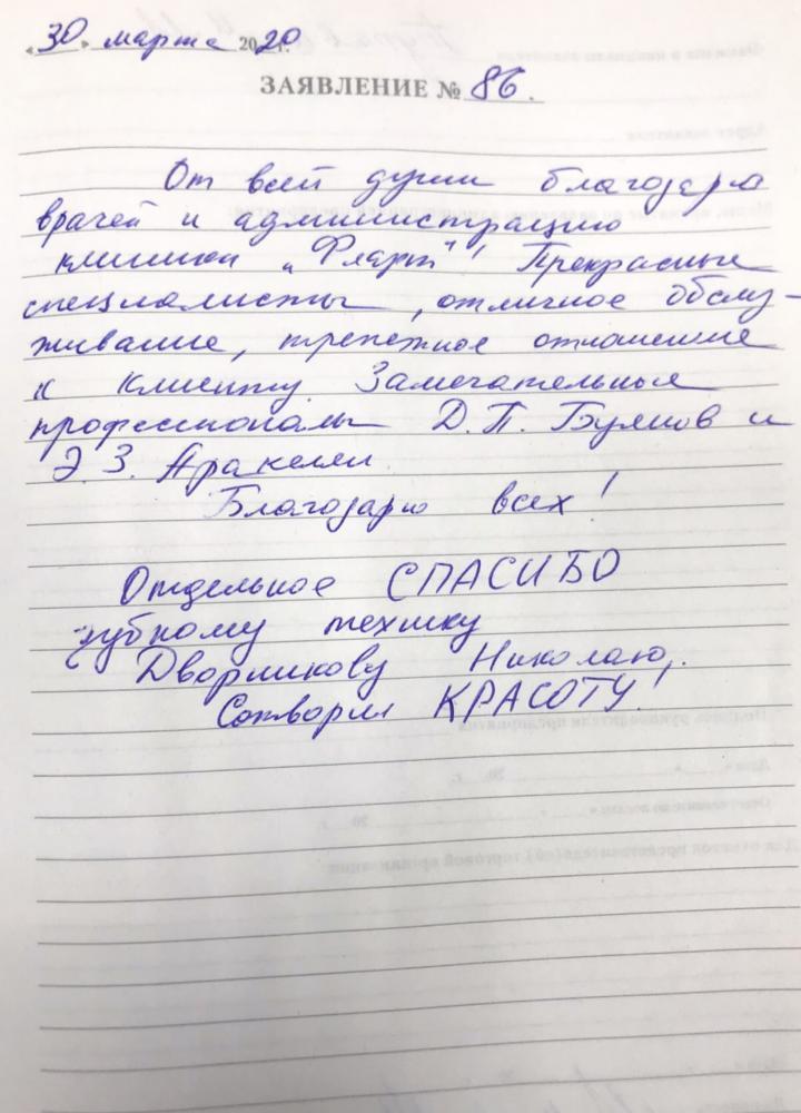 <em>Редактировать Отзыв</em> Марина Мурадовна. Стоматология Фларт