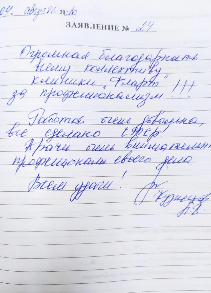 <em>Редактировать Отзыв</em> Лариса Викторовна. Стоматология Фларт